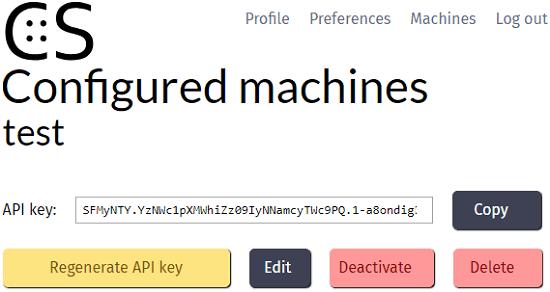 Code stats api key