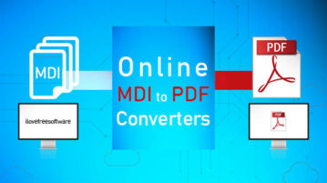 MDI to PDF converter websites