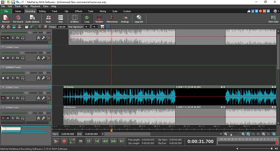 Mixpad free audio mixing software