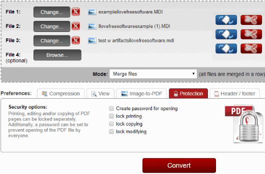 Online2pdf.com interface