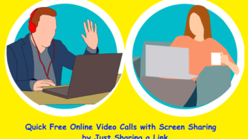 Quick Free Online Video Calls with Screen Sharing by Just Sharing a Link