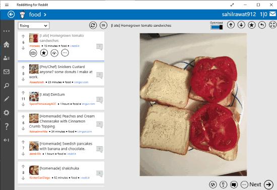 Redditting for Reddit- interface