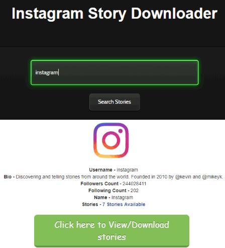 4 Free Online Instagram Stories Downloader Websites