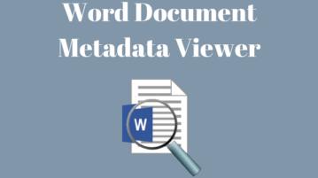 Free Online Word Metadata Viewer Websites