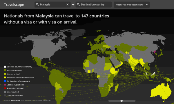 find countries you can travel to without visa