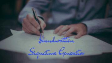 5 Handwritten Signature Generator Websites Free