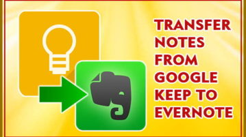 import notes from google keep to evernote