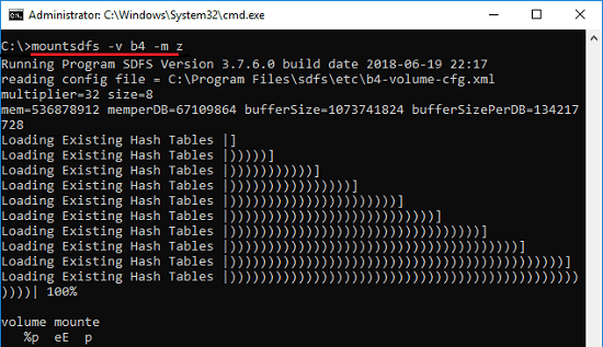 mksdfs mount virtual drive command