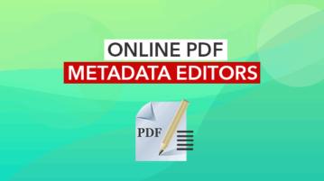 online pdf metadata editors