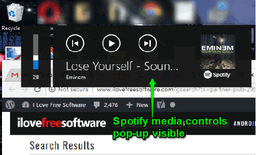 Hide Spotify Media controls Pop Up when Changing volume in