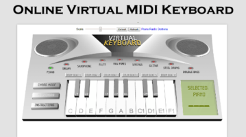 5 Online Virtual MIDI Keyboard Websites Free