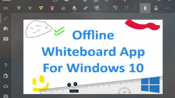 Offline Whiteboard Windows 10 App With Ink, Shape, Writing Recognition