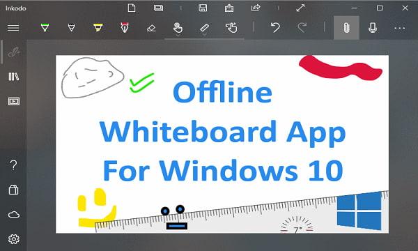 Offline Whiteboard Windows 10 App With Ink, Shape, Writing ...