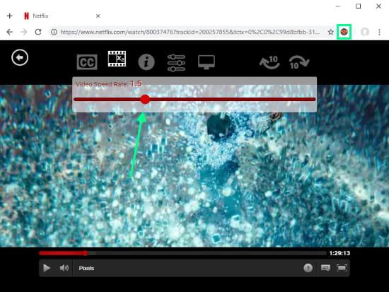 adjust Netflix playback speed