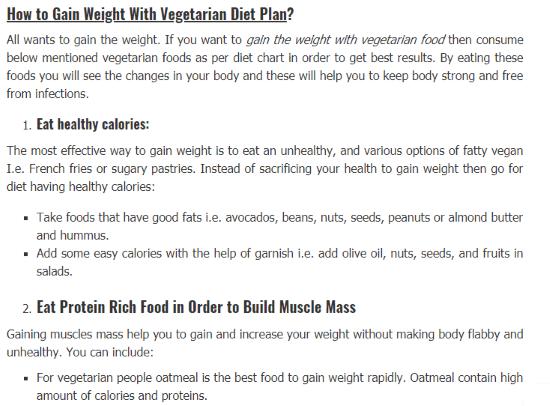 gain weight on vegan diet
