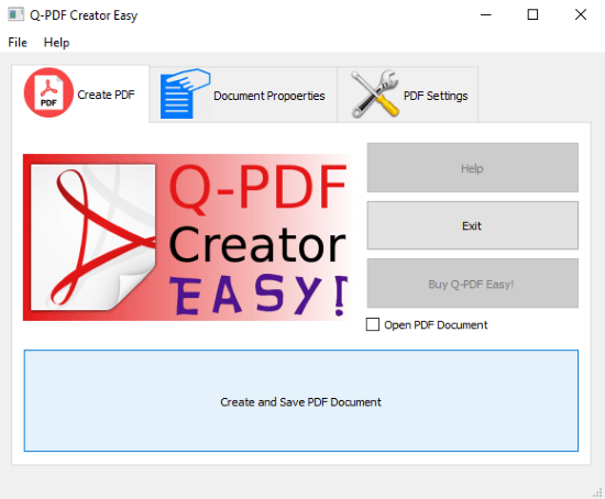 open source PDF Creator