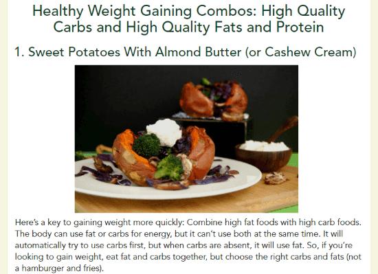 vegan diet plan to gain weight