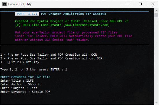 open source command line PDF Creator