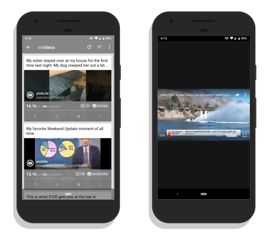 Now: Reddit Video Player app for Android