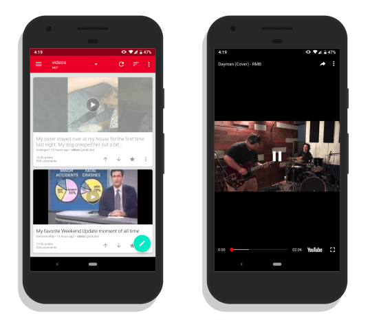 Sunc: Reddit Video Player app for Android