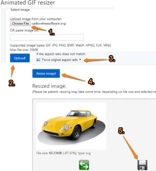 Ezgif website to resize svg image