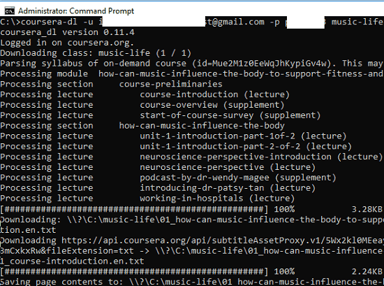 Free Command line tool to Download Coursera Courses