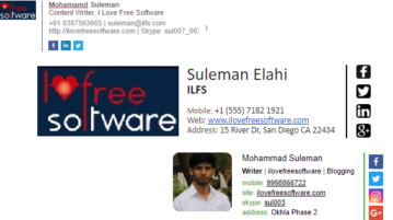 Free Professional Email Signature Generator Websites