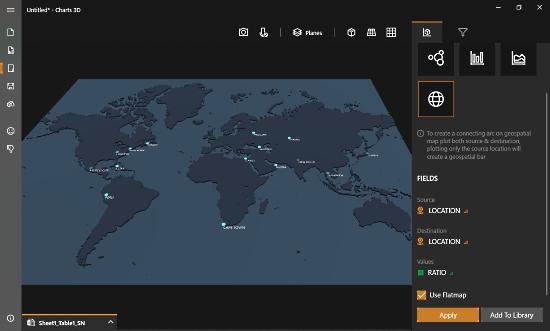 MIcrosoft Chart 3D - Geospatial Plot