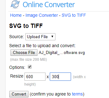 Online Converter SVG to TIFF