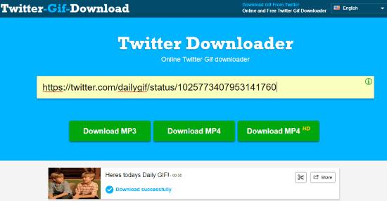 Online Twitter Gif Downloader