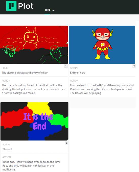 Plot free online storyboard creator