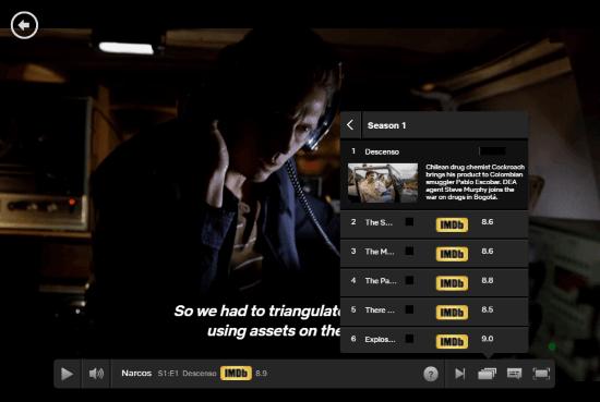 IMDb ratings in Netflix