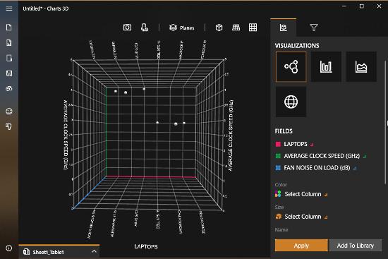 MIcrosoft Chart 3D - 3D Scatter Plot