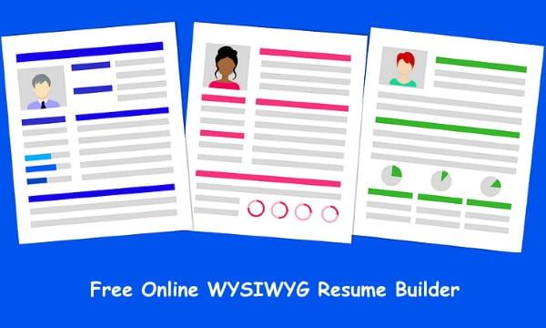 Free Wysiwyg Resume Builder To Design Resume Online Download Pdf