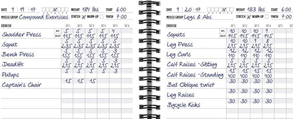 Workout Log Books to Record, Track Day to Day Exercises