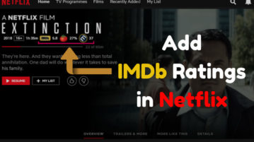 How to add IMDb ratings in Netflix
