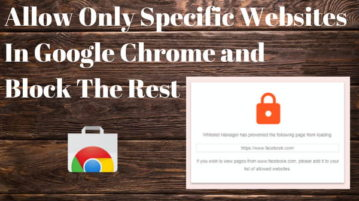 How To Allow Only Specific Websites In Google Chrome