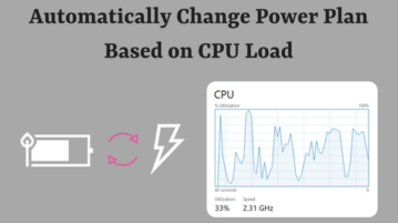 How To Automatically Change Power Plan Based on CPU Load