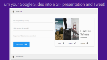 convert google slides presentation to animated gif