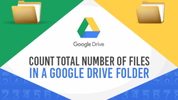 count total number of files in google drive folder
