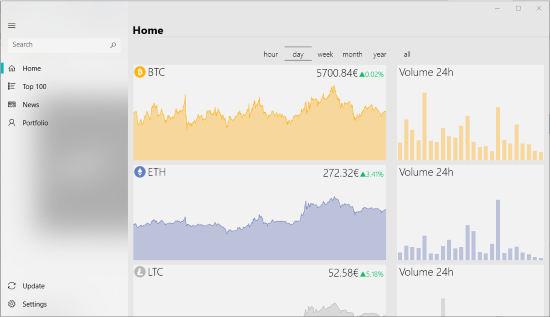 CryptoTracker- interface