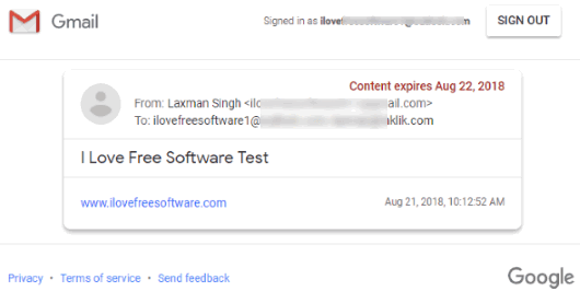 gmail content visible