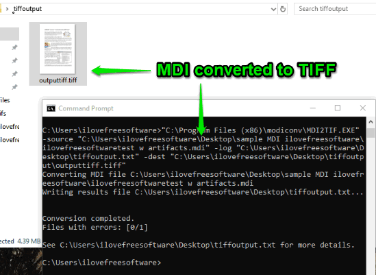 mdi file converted to tiff