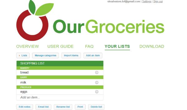 5 free online grocery list maker