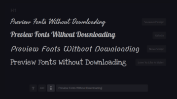 Preview 800+ Google Fonts on Your Designs Without Downloading