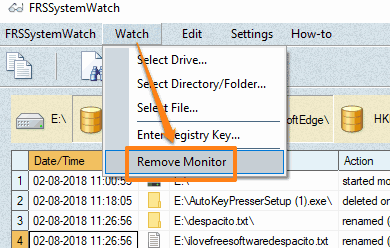 remove an entry