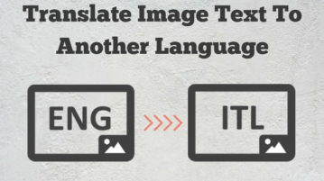 How To Translate Image Text To Another Language