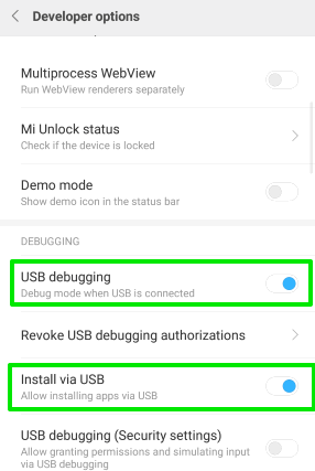 turn on usb debugging and install via usb options