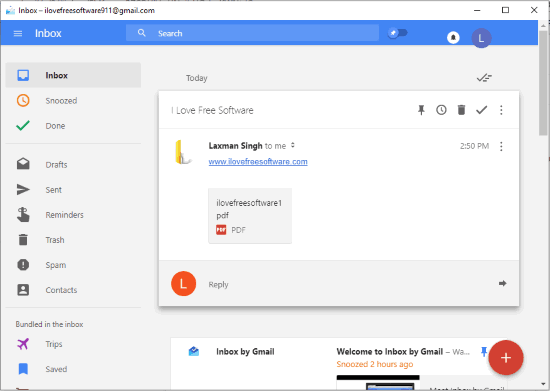 use inbox by gmail from desktop