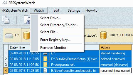 use watch menu to add input item